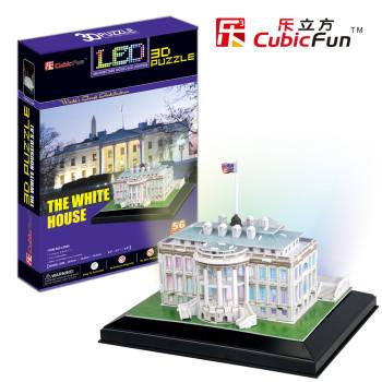 The White House (USA) светещ 3D Пъзел