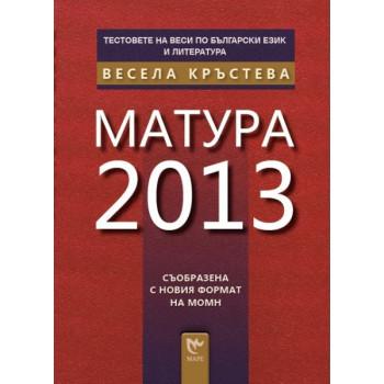 Тестовете на Веси по български език и литература: Матура 2013