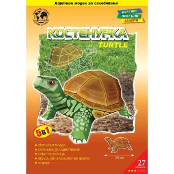 Костенурка - картонен модел