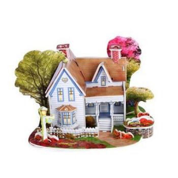 Романтична къща - 3D Пъзел