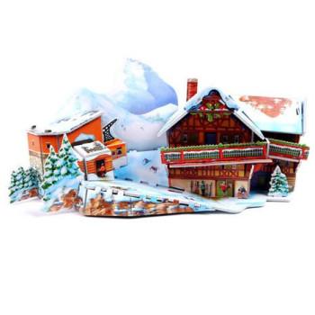 Зимна хижа - 3D Пъзел