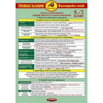 Помагалник по български език за 5. - 7. клас