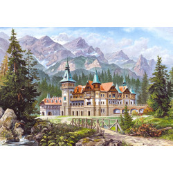 """Copy of """"Castle at the Foot of the Mountains"""""""