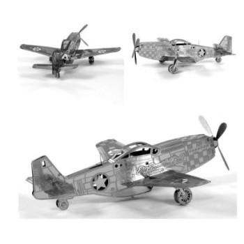 """3D нано пъзел, самолет """"P-51 Mustang"""""""