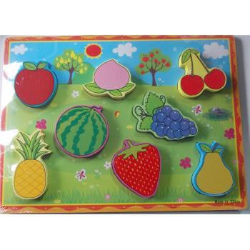 Дървен пъзел - плодове