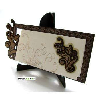 Листа - луксозна дървена картичка