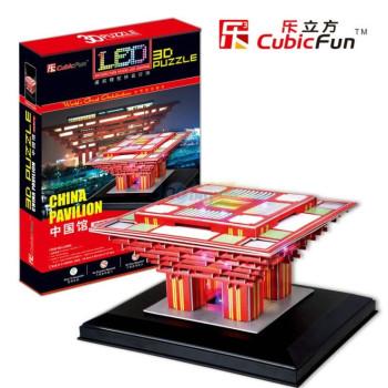 The China Pavillion - светещ 3D Пъзел